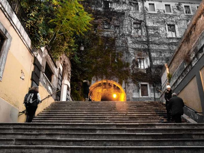 Roma gezilecek yerler Borgia merdivenleri - Rome the Borgia Stairs(Scalinata dei Borgia)
