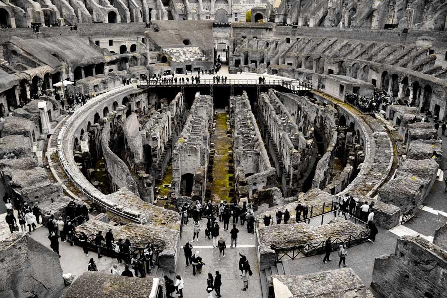 Roma gezilecek yerler Kolezyum tek renk fotoğrafları - Colosseo Colosseum photos