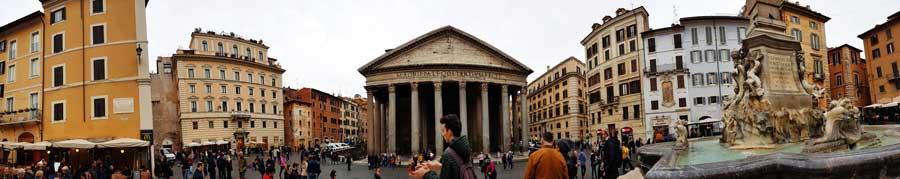 Roma gezilecek yerler Pantheon meydanı panaromik fotoğrafları - Rome Pantheon Square panaromic photos