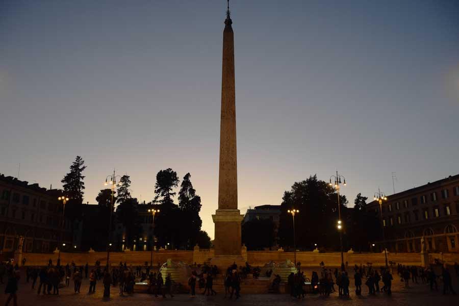 Roma gezilecek yerler Popolo meydanı ve dikilitaşı - Rome Popolo square (Piazza del Popolo)