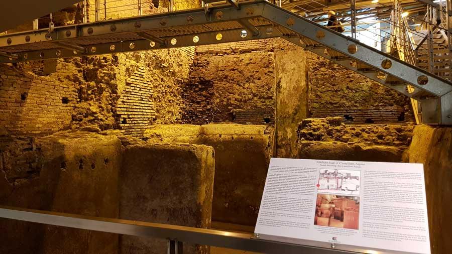 Roma gezilecek yerler Trevi çeşmesi fotoğrafları yeraltı Su şehri - Rome Vicus Caprarius photos City of water