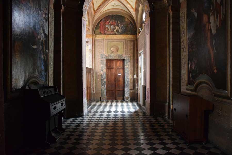 Roma kiliseleri San Carlino kilisesi içi - Rome St. Carlo Church (San Carlo alle Quattro Fontane) interrior