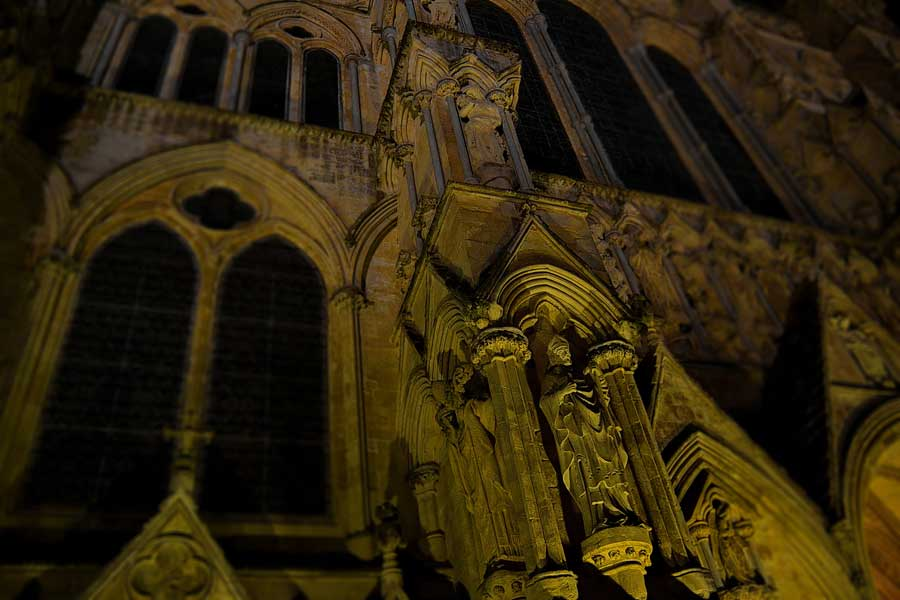 Salisbury Katedrali cephe süslemeleri - facade ornaments of Salisbury Cathedral