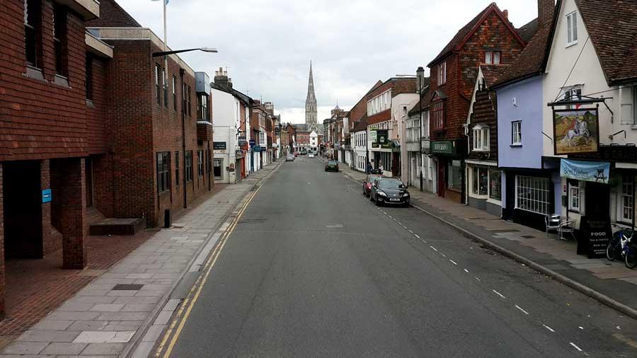 İngiltere gezilecek yerler Salisbury kenti fotoğrafları - England Salisbury city photos
