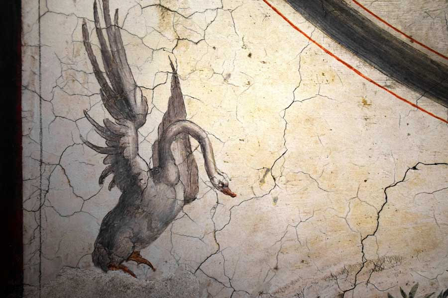 Sant'Angelo Kalesi eserleri duvar resmi detayı - Castle Sant Angelo Pauline hall's detail