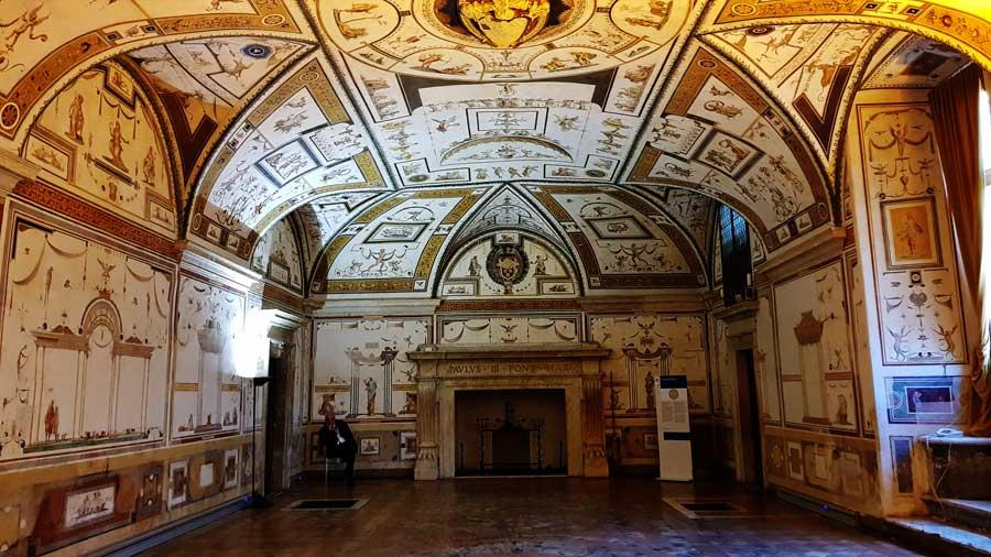 Sant'Angelo Kalesi fotoğrafları Apollo salonu duvar resimleri - Rome Castel Sant Angelo Apollon's room photos