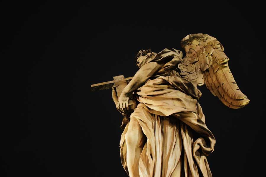 Sant'Angelo Kalesi köprüsü heykelleri Bernini heykeli - Rome Castel Sant Angelo bridge's statue