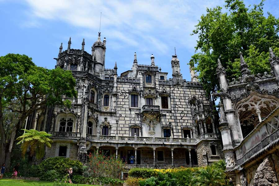 Sintra fotoğrafları Quinta da Regaleira sarayı Portekiz - Portugal Sintra photos Quinta da Regaleira Palace