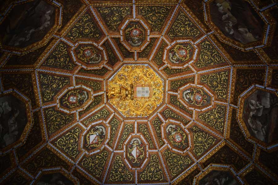Sintra fotoğrafları Quinta da Regaleira sarayı kubbesi - the dome of the Quinta da Regaleira Palace