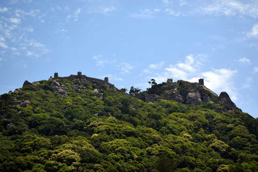 Sintra gezilecek yerler Moors Kalesi - Sintra photos Castle of the Moors (Castelo dos Mouros)