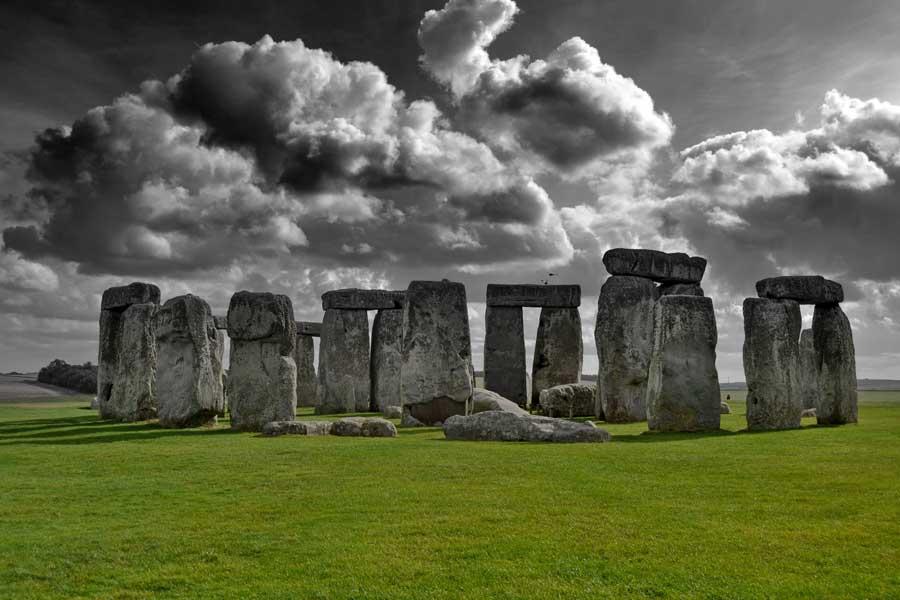 Stonehenge fotoğrafları tek renk - Stonehenge prehistoric monument