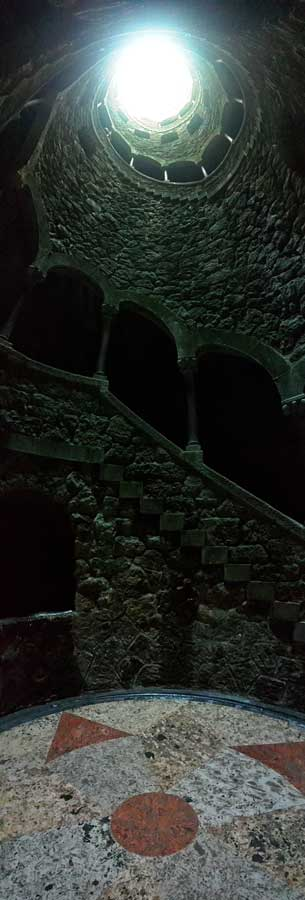 Ters Kule panaromik fotoğraf - Sintra Quinta da Regaleira Reverse Tower