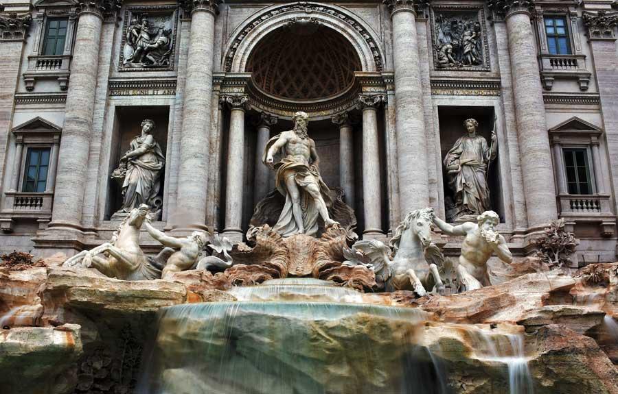 Trevi çeşmesi fotoğrafları - Trevi fountain photos