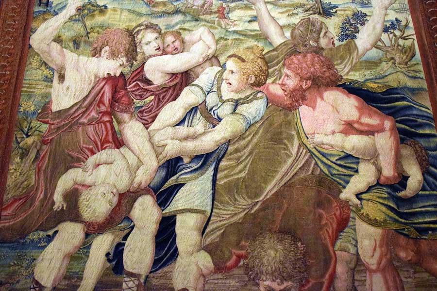 Vatikan müzeleri Halılar Galerisi Raphael'in öğrencilerinin çalışmaları - Vatican Museums Gallery of Tapestries Raphael's students' works