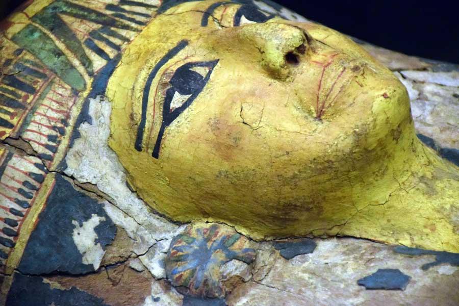 Vatikan müzeleri antik Mısır eserleri mumya lahiti - Vatican museuma ancient Egyptian mummy sarcophagus