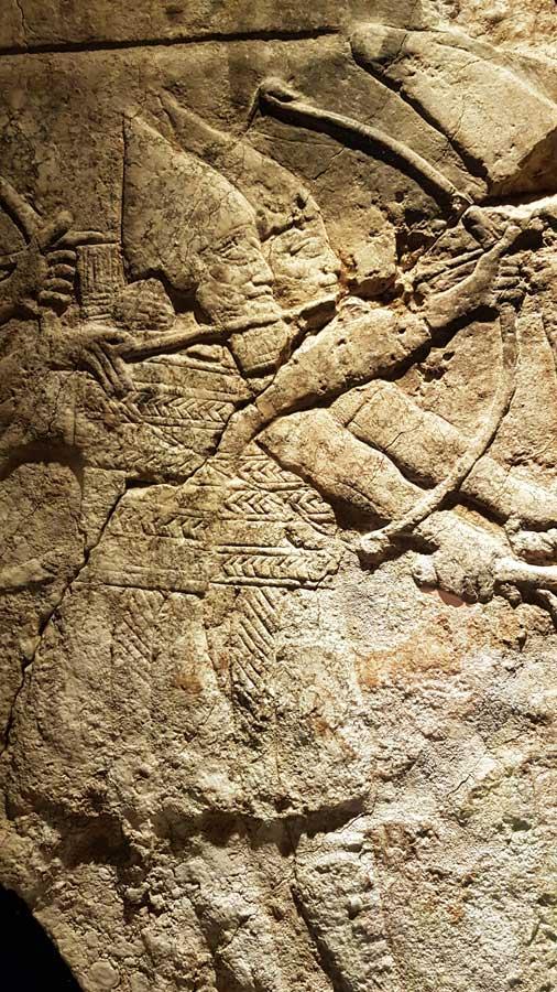Vatikan müzeleri antik eserleri Asur kabartmaları - Vatican museums Assyrian reliefs