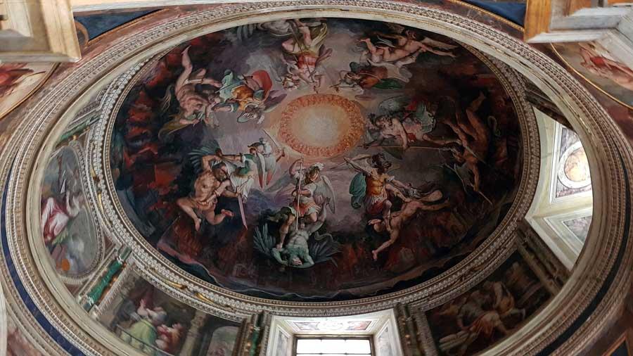 Vatikan müzeleri eserleri kubbesi tavan resimleri ve freskoları - Vatican museuma dome ceiling pictures and frescoes