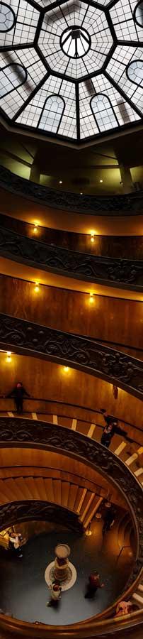 Vatikan müzeleri mimar Giuseppe Momo spiral merdiveni - Vatican museus architect Giuseppe Momo spiral staircase