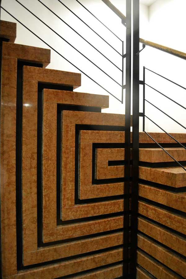 Venedik Querini Stampalia Vakfının merdiven detayı mimar Carlo Scarpa - Venice Stair detail of Fondazione Querini Stampalia by Carlo Scarpa