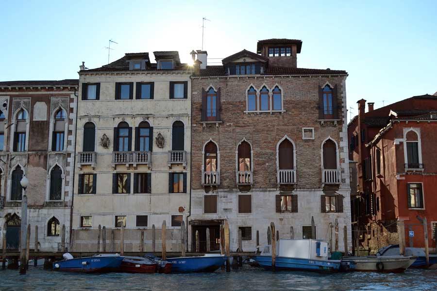 Venedik fotoğrafları Büyük kanal saraylar ve iskeleler - Venice Grand canal palaces and docks