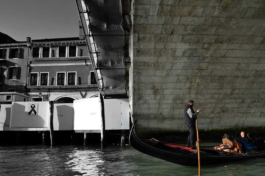 Venedik fotoğrafları Büyük kanal ve Rialto Köprüsü - Venice Grand canal and Rialto Bridge