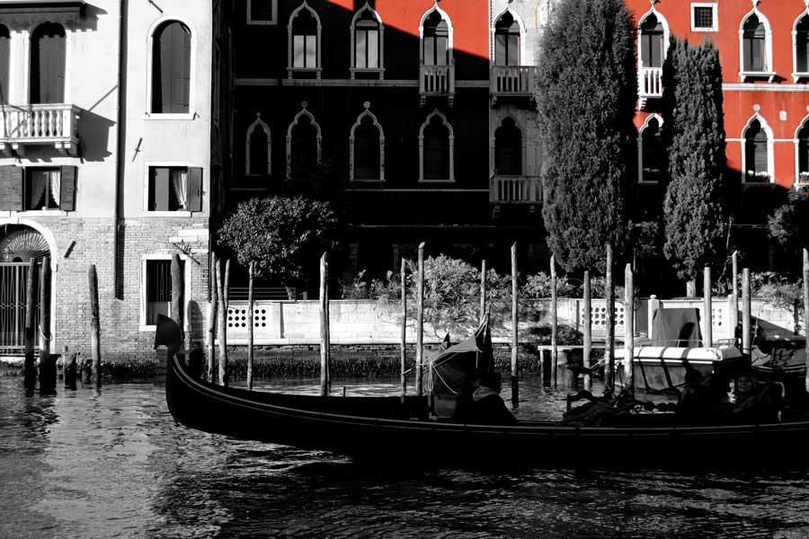 Venedik fotoğrafları Büyük kanal ve gondollar - Venice Grand canal and gondols