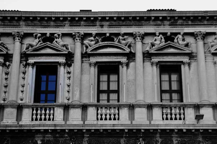 Venedik fotoğrafları Ulusal Marciana Kütüphanesi cephesi - Venice photos Biblioteca Nazionale Marciana, National Marciana Library facade