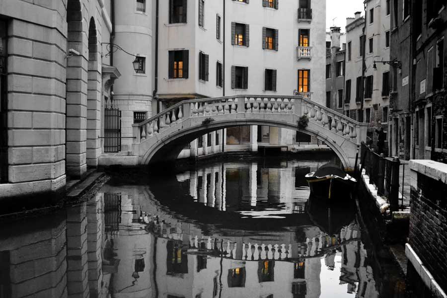 Venedik fotoğrafları kanal köprüleri - Venice canal photos