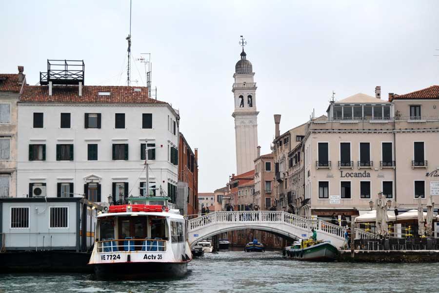Venedik gezilecek yerler büyük kanal ve köprüler - Venice Grand canal and bridges