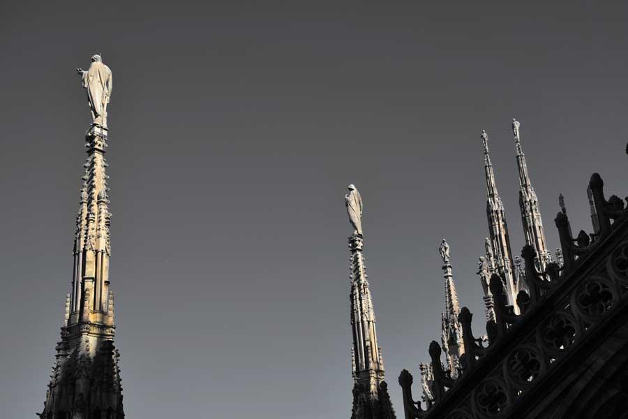 Milano Duomo katedrali fotoğrafları - (Duomo di Milano) Duomo cathedral of Milan photos