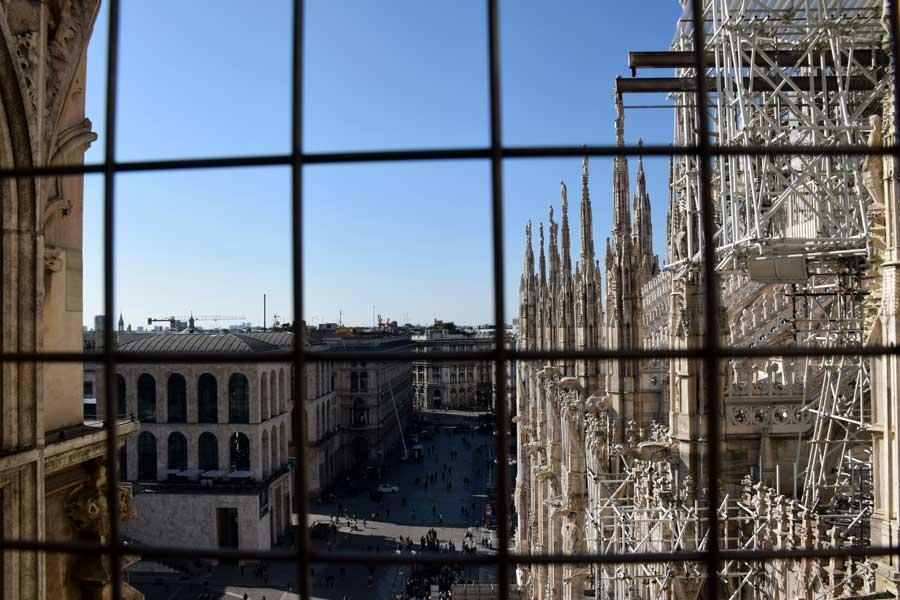 Milano Duomo di Milano meydanı - Duomo di Milano square photos