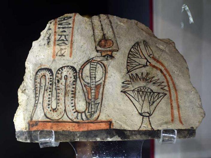 Torino Mısır Müzesi duvar resimleri - Turin Egyptian Museum ancient wall paintings