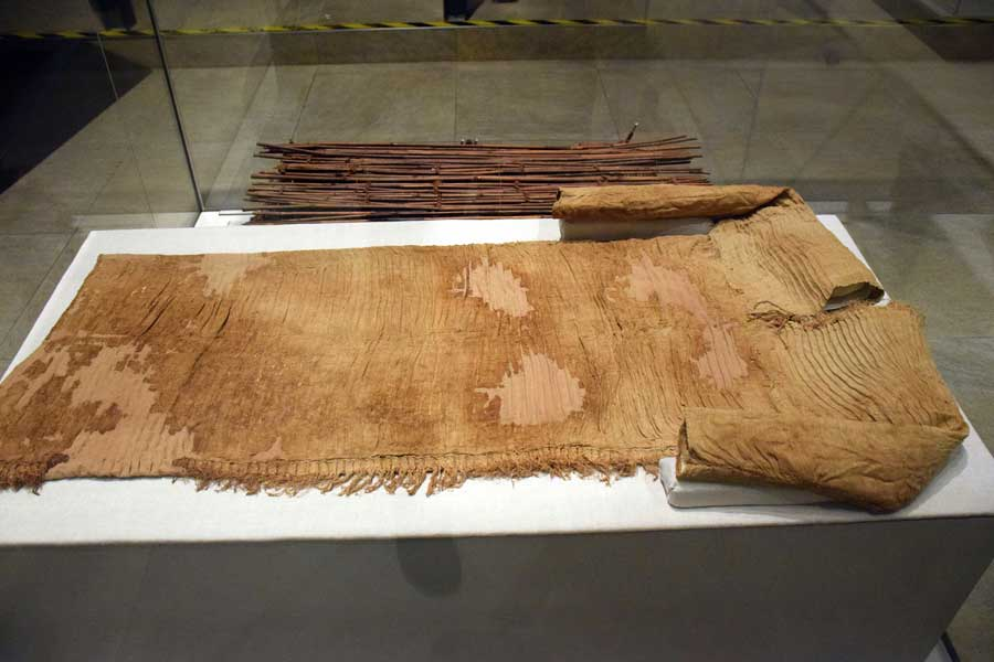 Torino Mısır müzesi antik Mısır giysisi - Turin Egyptian Museum ancient tunic