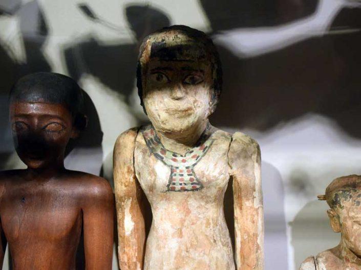 Torino Mısır müzesi antik Mısır heykelcikleri - Turin Egyptian Museum ancient Egyptian figurines