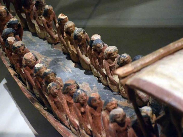 Torino Mısır müzesi minyatür heykeller - Turin Egyptian Museum miniature sculptures