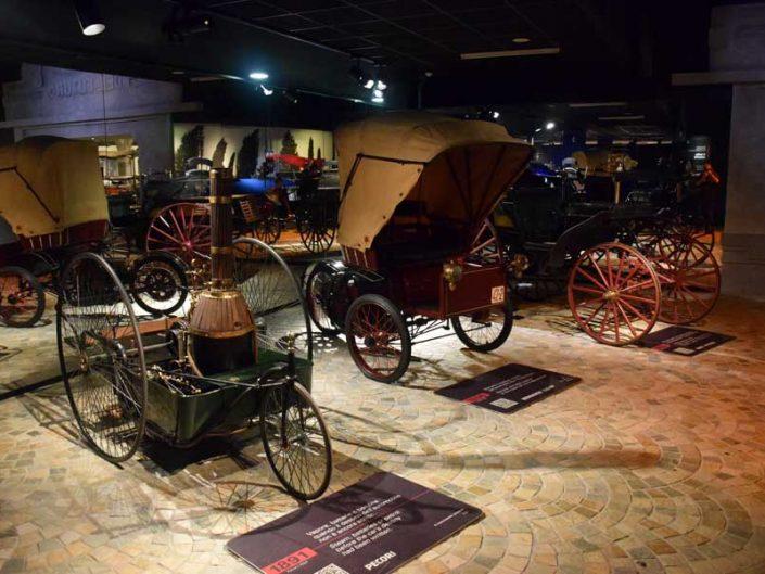 İtalya Torino Otomobil Müzesi 1891 buharlı araba - Italy Turin Automobile Museum steam car (Museo Nazionale dell'Automobile)
