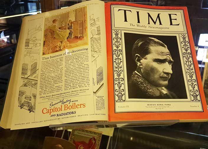 Rahmi M. Koç Müzesi görselleri Time dergisi Atatürk'lü kapak basım Şubat 1927 - Time magazine February 1927, Atatürk on the cover of the magazine