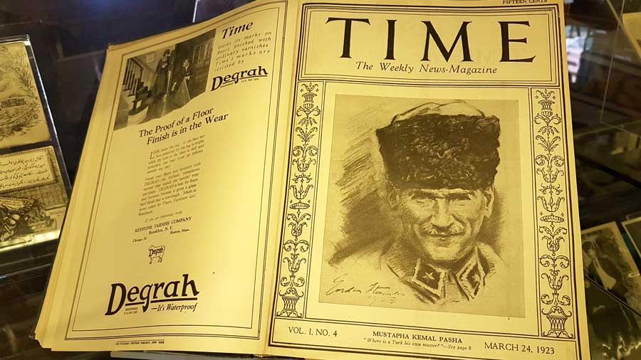 Rahmi M. Koç Müzesi görselleri Time dergisi Atatürk'lü kapak basım Mart 1923 - Time magazine March 1923, Atatürk on the cover of the magazine