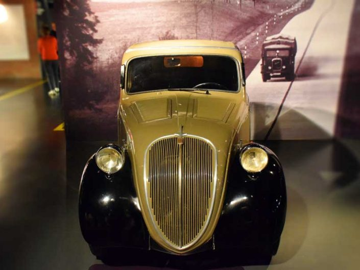 Torino Otomobil Müzesi 1936 model Fiat 500 - Turin Automobile Museum photos (Museo Nazionale dell'Automobile)