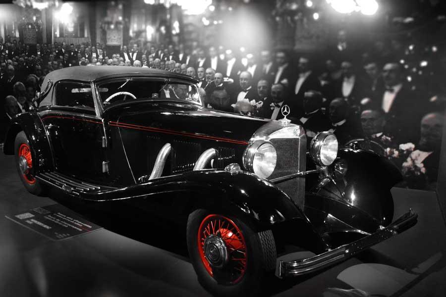 Torino Otomobil Müzesi 1936 model Mercedes Benz 540K - Turin Automobile Museum (Museo Nazionale dell'Automobile)