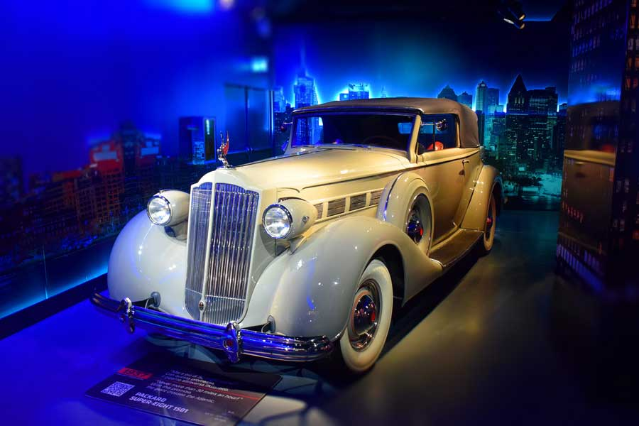 Torino Otomobil Müzesi 1937 model Packard Super-Eight 1501 - Turin Automobile Museum photos (Museo Nazionale dell'Automobile)