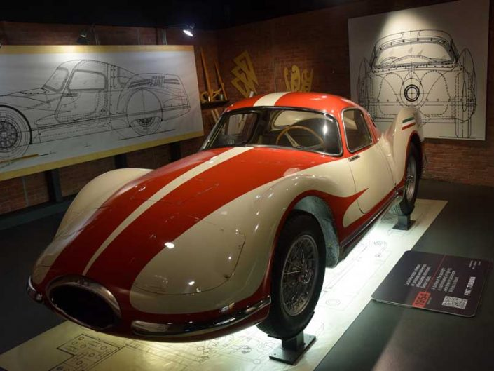 Torino Otomobil Müzesi 1954 model Fiat Turbina - Turin Automobile Museum photos (Museo Nazionale dell'Automobile)