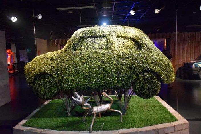 Torino Otomobil Müzesi yeşil araba - Turin Automobile Museum green car (Museo Nazionale dell'Automobile)