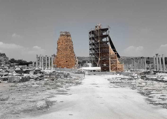 Antalya Perge Helenistik kuleleri - Perge ancient city Hellenistik towers