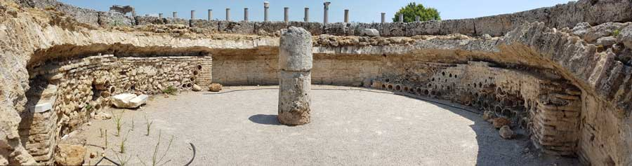 Antalya Perge antik kenti Agora'da Macellum - Perge ancient city Macellum in Agora
