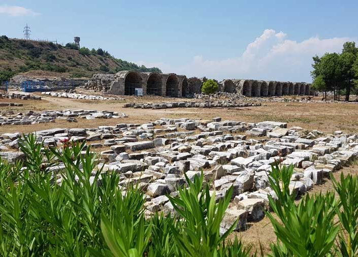 Antalya Perge antik kenti stadyum ve kalıntılar - Perge ancient city stadium and ruins