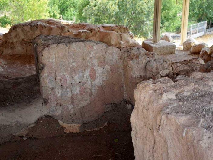 Arslantepe höyüğü fotoğrafları A Tapınağı iç duvar antik süslemeleri - Arslantepe Mound A Temple interior wall ancient decorations