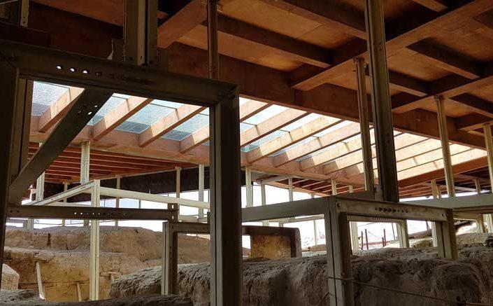 Arslantepe höyüğü fotoğrafları ahşap koruma çatısı - Arslantepe mound wooden protection roof