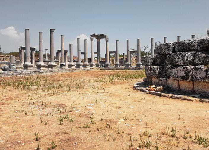 Perge antik kenti Agora ve Macellum - Perge ancient city Agora and Macellum