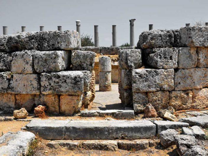 Perge antik kenti Macellum ve kent merkezi (Agora) - Perge ancient city Macellum and city center (Agora)